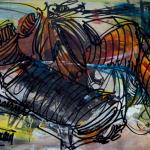 Le ver de terre. [118 x 25cm] © Prosper Jerominus 2013