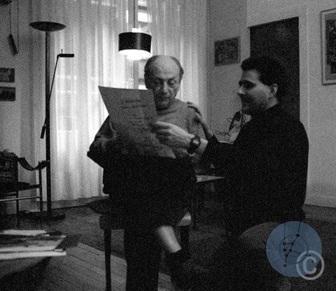 No Title. Lucien Hervé au travail © Jerominus 2002