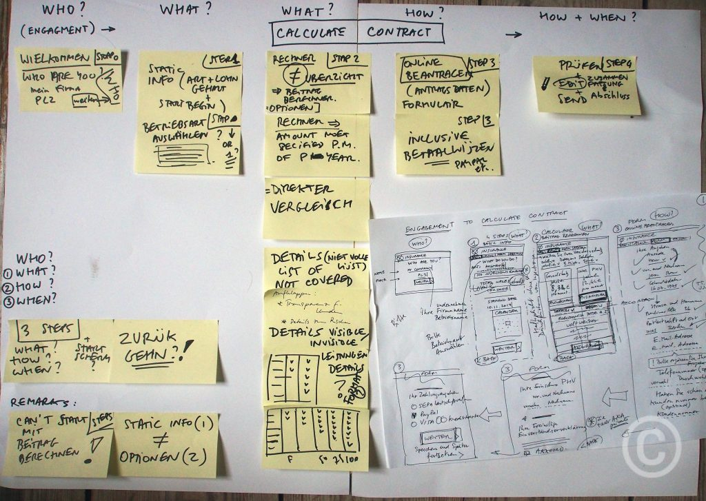 Mapping UI-UX Concept Engagement UX Insurance Calculators Use Case Jerome Bertrand 2017