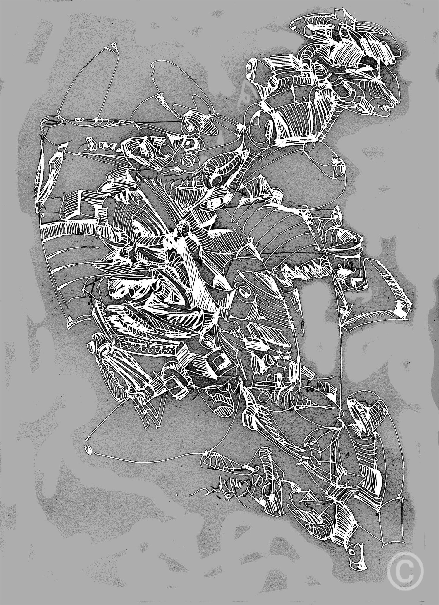 Transgenerational Drawing Mixed digital media © Prosper Jerominus, 2017
