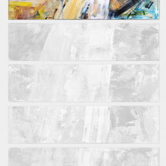 Blancs 12345 - slides 2/5 [200 x 250cm] - vertical (spaced) © Prosper Jerominus, 2013