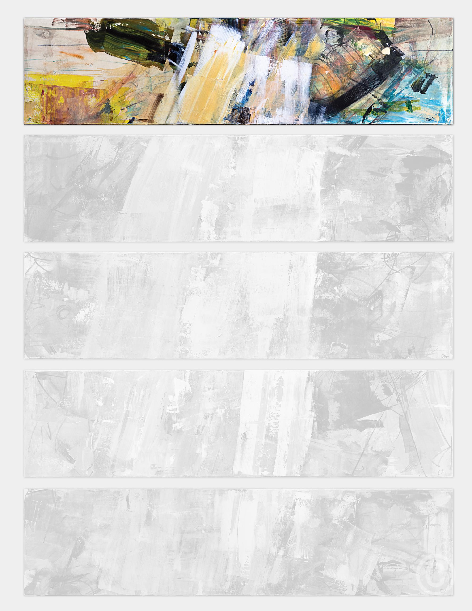 Blancs 12345 - slides 2/5 [200 x 250cm] - vertical (spaced) © Prosper Jerominus, 2013