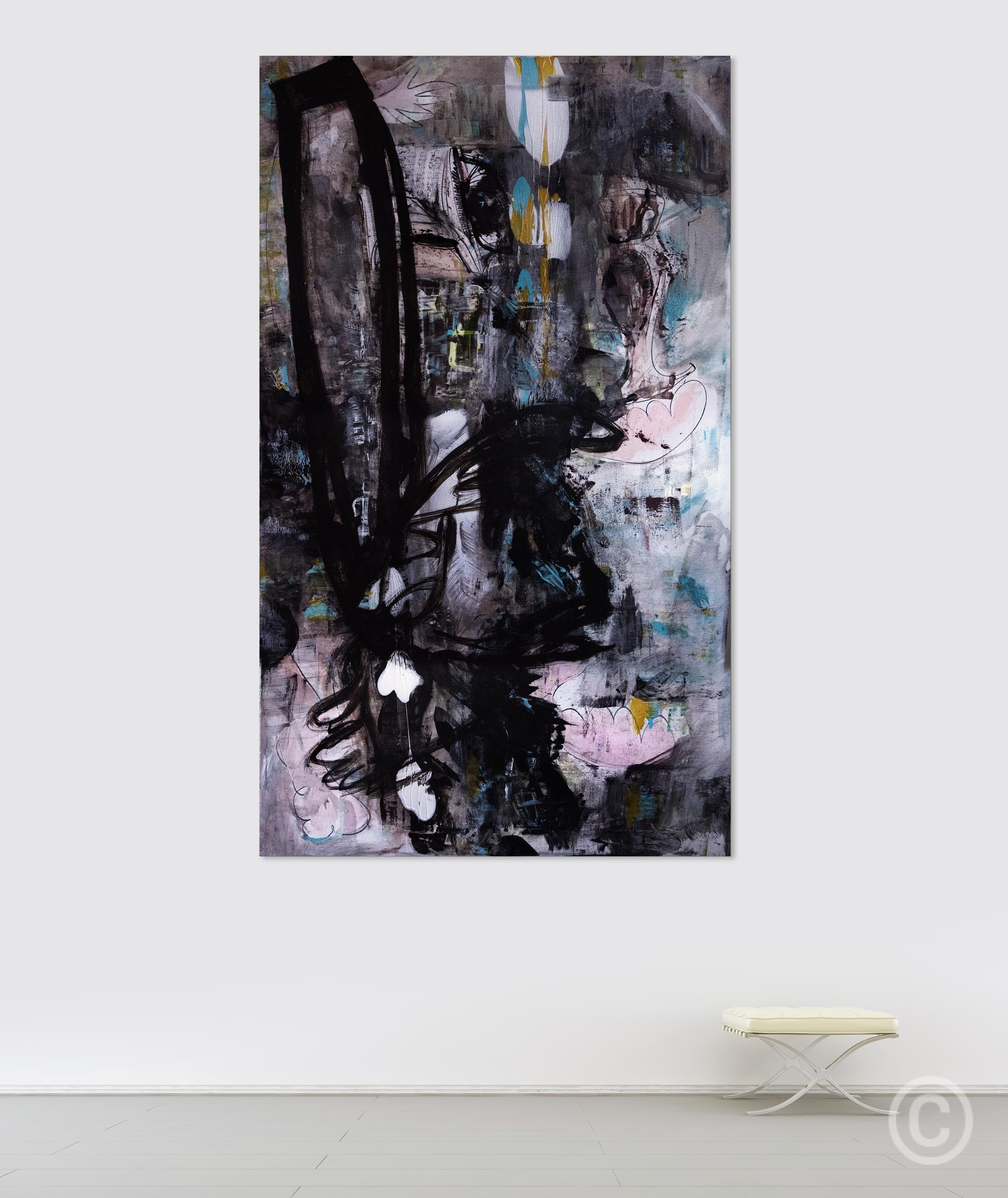 Dances (Hommage a Trévisse) [158 x 93cm] Acrylic onfine linen © Prosper Jerominus, 2015