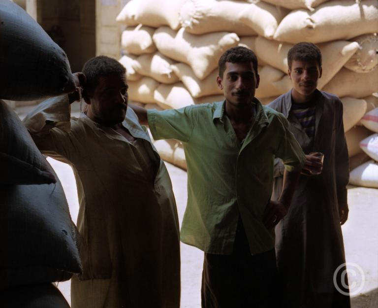 Three Men, detail Souk, Cairo © Prosper Jerominus, 2001
