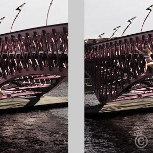 Flying (Serie) Lage Brug, Borneo Island, East Amsterdam © Prosper Jerominus 2018