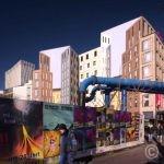 Colored building faces at Berlin Hauptbahnhof © Prosper Jerominus 2018